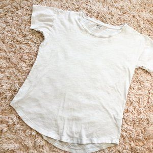 Madewell White Scoop-Neck Short Sleeve T-Shirt